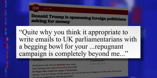 Trump Is Actually Spamming The UK Parliament For Money, Too