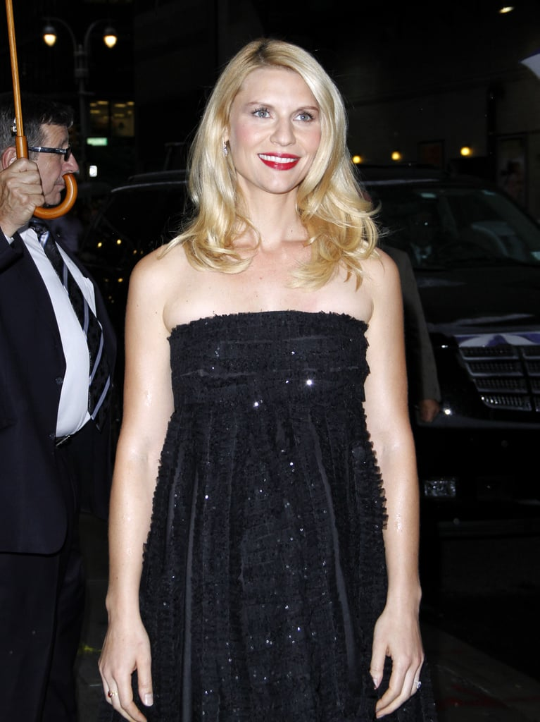 Claire Danes posed for photographers outside of Late Show With David Letterman.