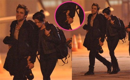 Photos of Robert Pattinson and Kristen Stewart Holding Hands in Paris