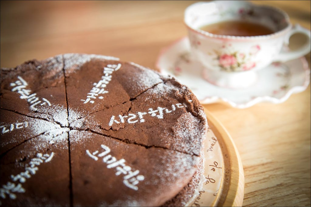 . . . And Homemade Chocolate Cake With Tea!
