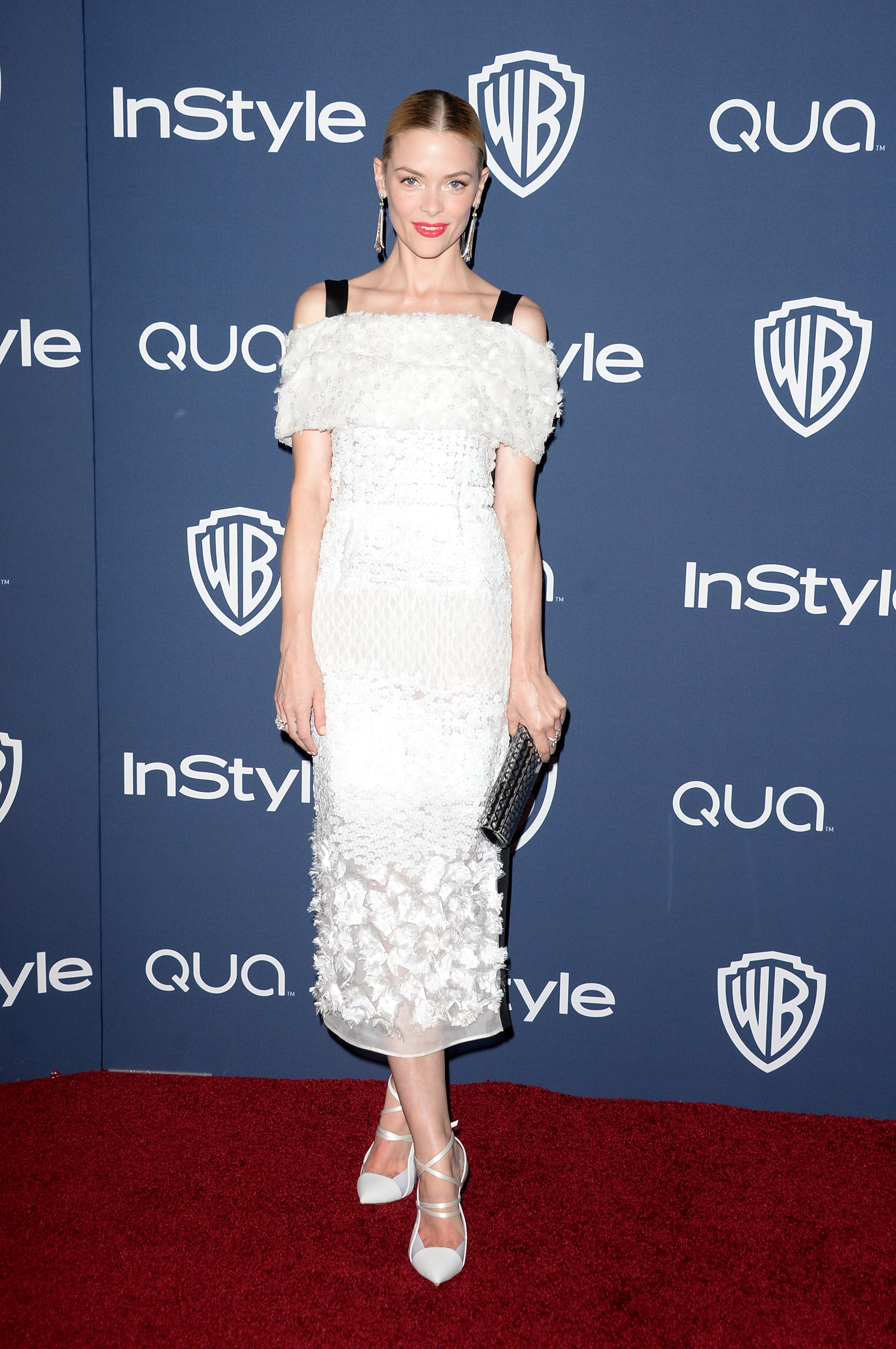 Jaime King in Prabal Gurung at the InStyle Golden Globes party.