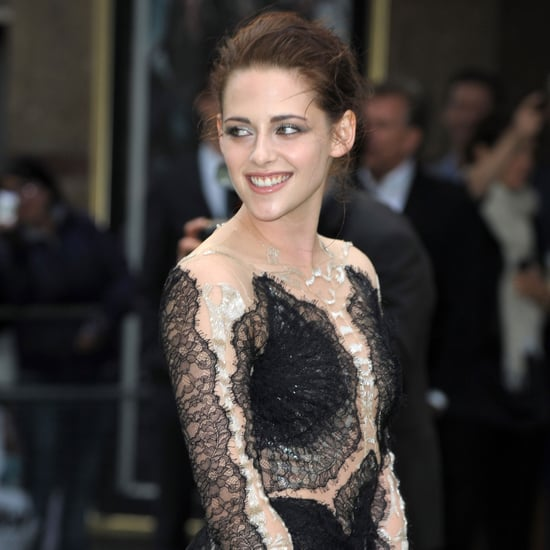 Kristen Stewart Black Lace Dress SWATH Premiere Pictures UK
