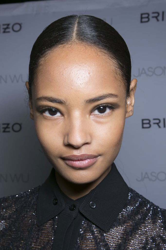 """""""I don't put on foundation and leave my base clean. Sometimes I'll put yogurt and honey on my face. I try to sleep as much as possible."""" — Model Malaika Firth (pictured) at Jason Wu"""