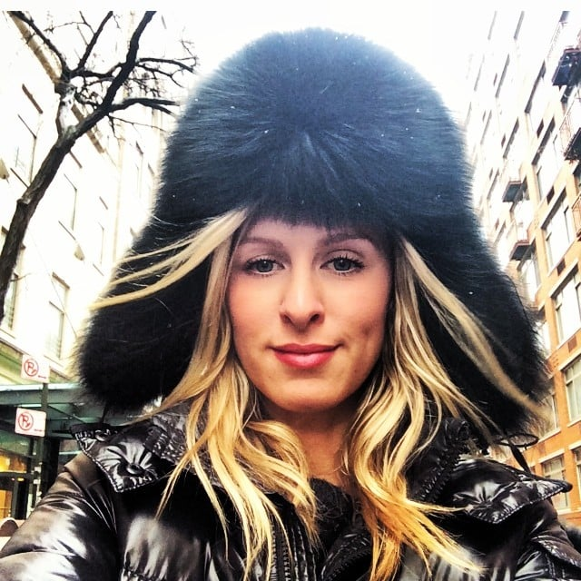 Nicky Hilton bundled up against the NYC chill. Source: Instagram user nickyhilton