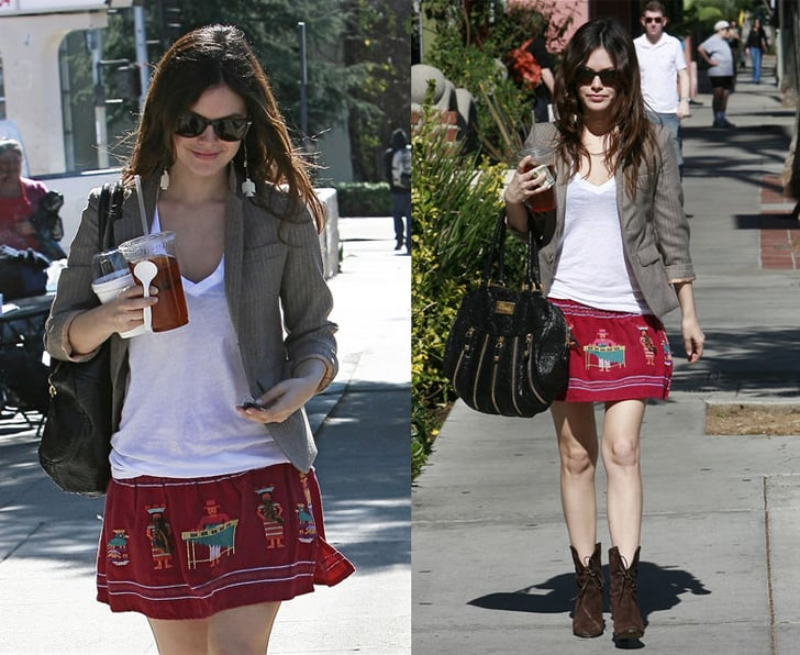 Rachel Bilson Out and About in LA In LnA T-Shirt and ...