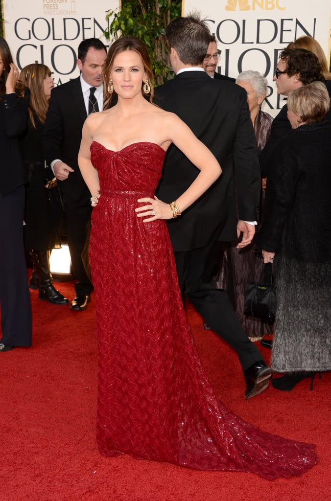 Jennifer Garner may have stolen the spotlight from the night's big winner — husband Ben Affleck — when the mom of three —Violet, Seraphina, and Samuel — walked the red carpet wearing a Vivienne Westwood Couture gown.