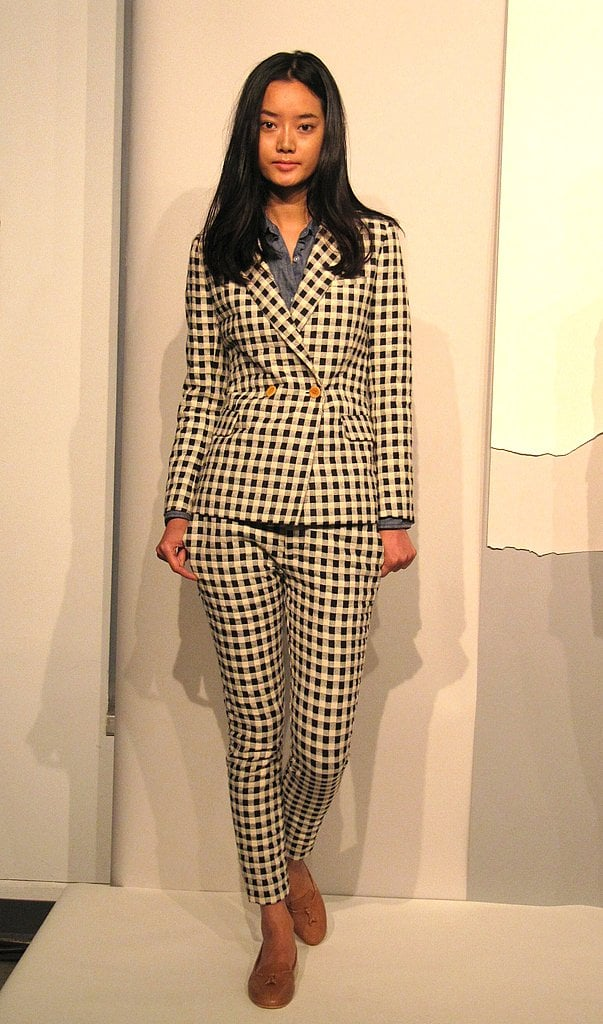 We would wear Steven Alan's gingham check suit for work or play.