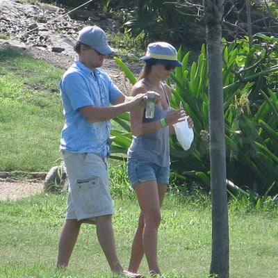 Leonardo DiCaprio and Bar Rafaeli in Mexico