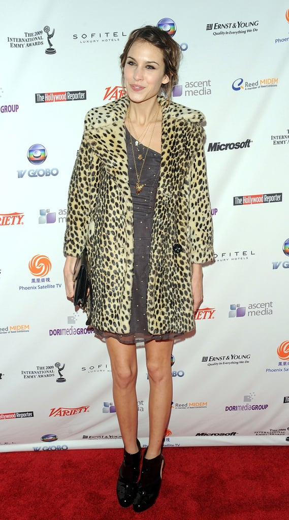 In leopard-print at the 37th International Emmy Awards Gala last year.