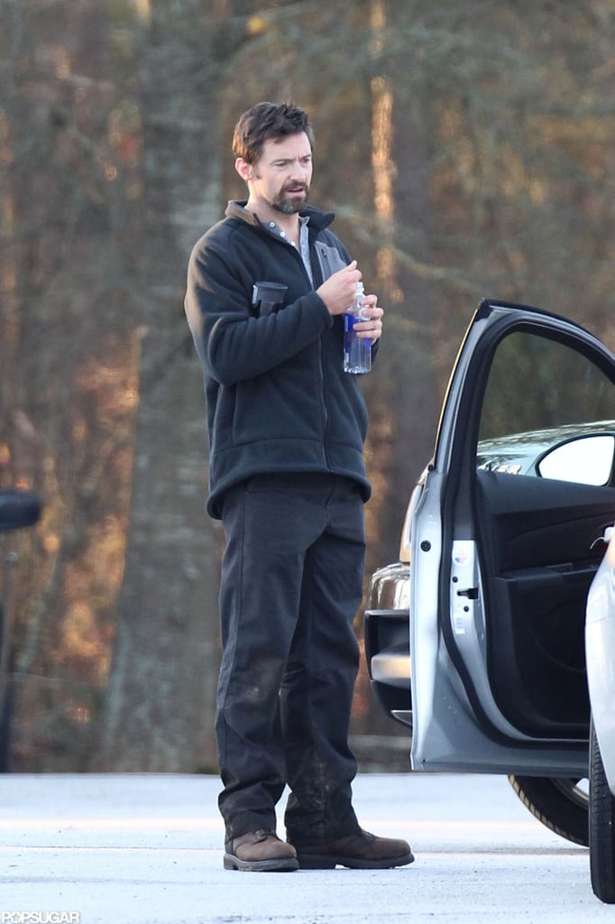 Hugh Jackman was out in Georgia.