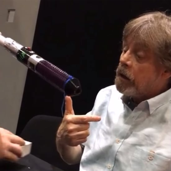 Mark Hamill's Reaction to a Fan's Lightsaber Gift