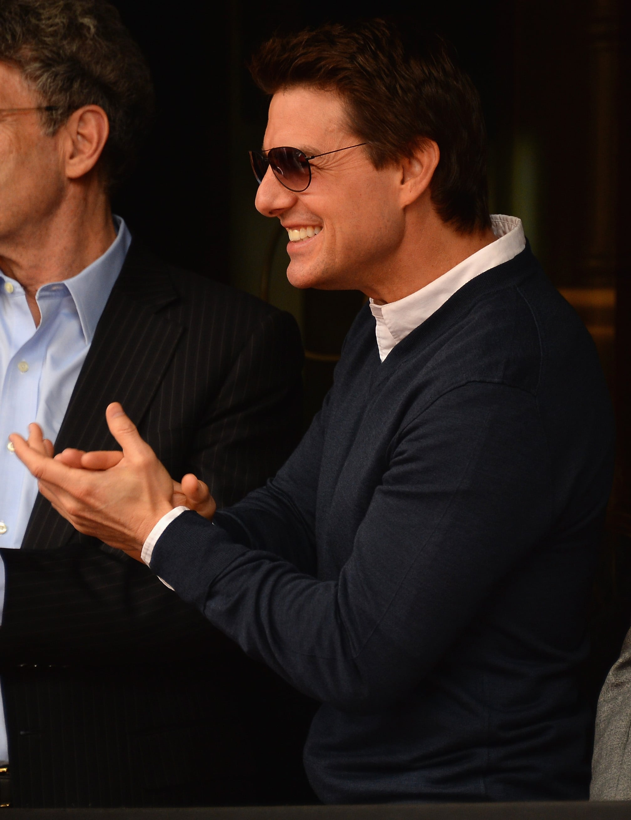 Tom Cruise gave Jerry Bruckheimer a round of applause as he accepted his star on the Hollywood Walk of Fame.