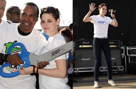"""Photos of Kristen Stewart And Sugar Ray Leonard at The Juvenile Diabetes Research Foundation's Annual """"Walk To Cure Diabetes"""" 2009-11-08 19:51:03"""