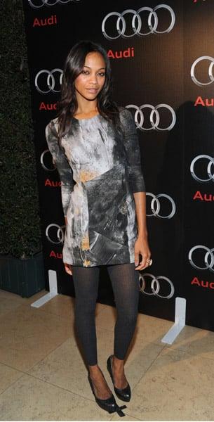 Zoe in Helmut Lang at the 2009 Audi Diesel dinner in West Hollywood.