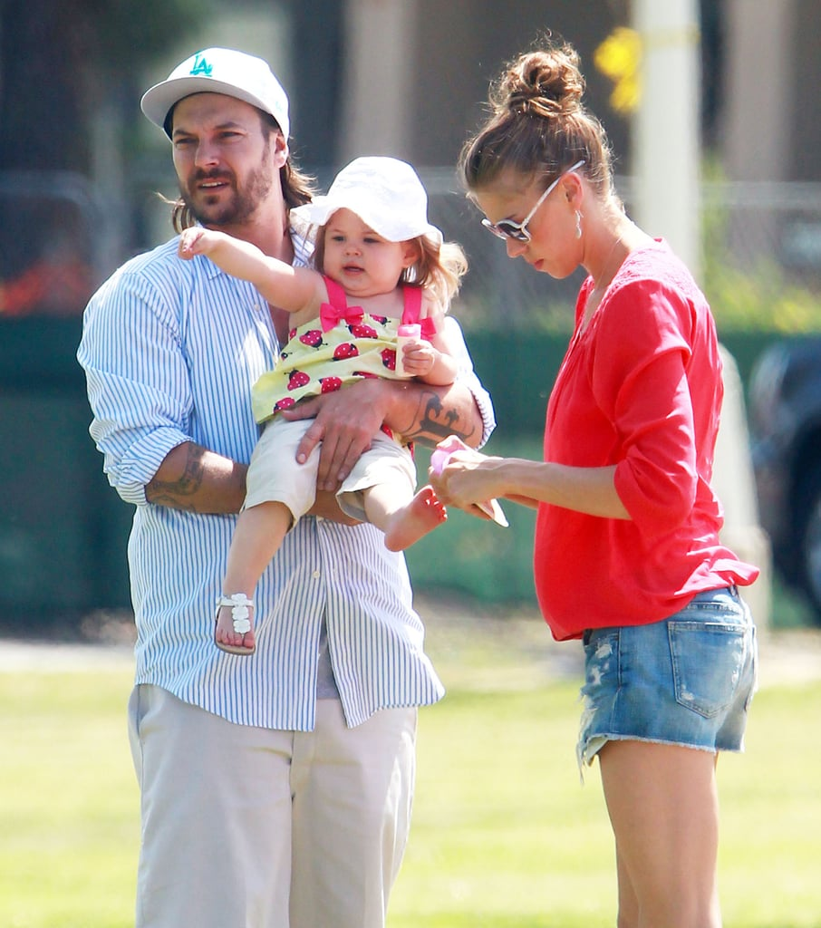 Kevin Federline and his girlfriend, Victoria Prince, watched his sons Sean Preston and Jayden James play soccer in LA on Saturday with their daughter, Jordan.