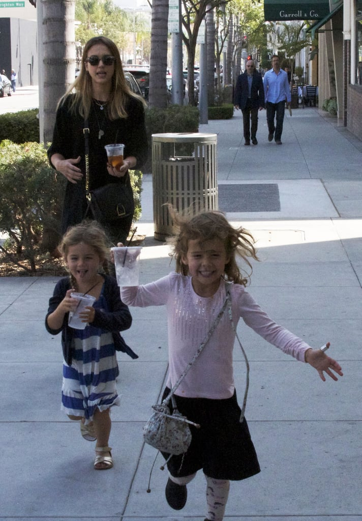 Honor had a playdate in LA with a friend and mom Jessica Alba.