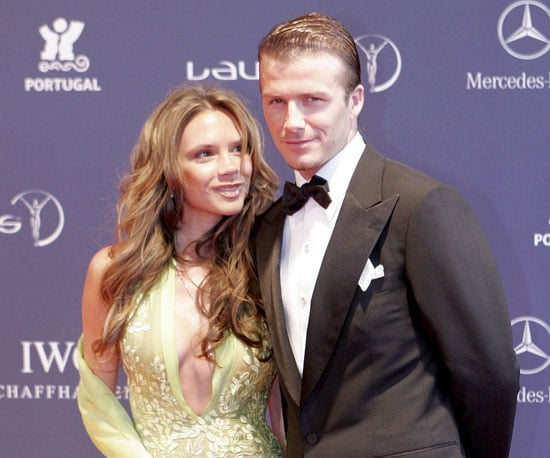 Victoria checked David out at the Portuguese Laureus World Sports Awards in May 2005, a month after their son Cruz was born.