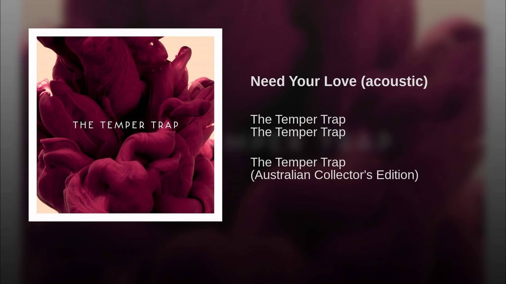 """""""Need Your Love"""" (Acoustic) by Temper Trap"""