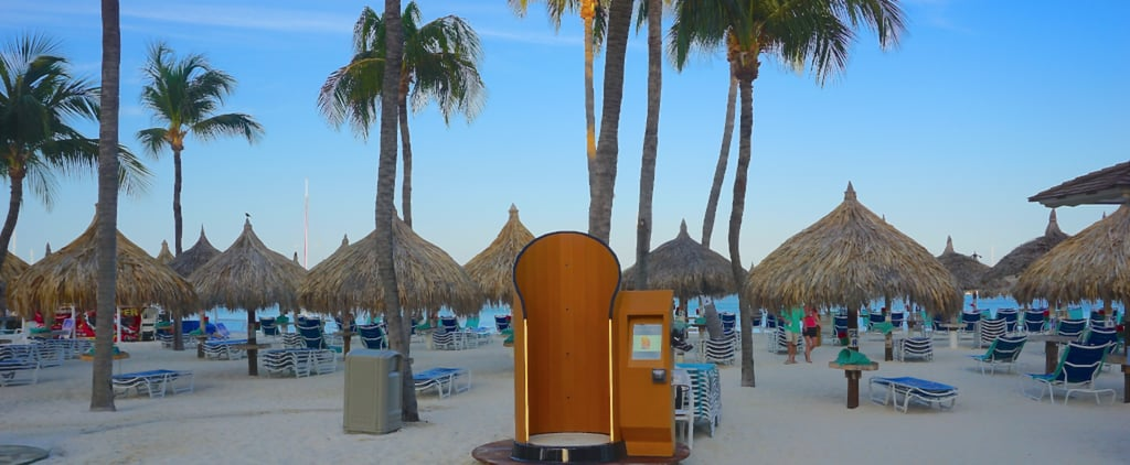 This Sunscreen Spray Booth Ensures You Won't Get Burned on Vacation