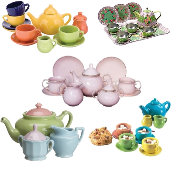 Real China and Porcelain Tea Party Sets For Kids