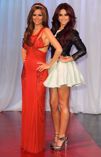 Pictures of Cheryl Cole With Her Waxwork at Madame Tussauds Ahead of X Factor Performance and Piers Morgan Interview