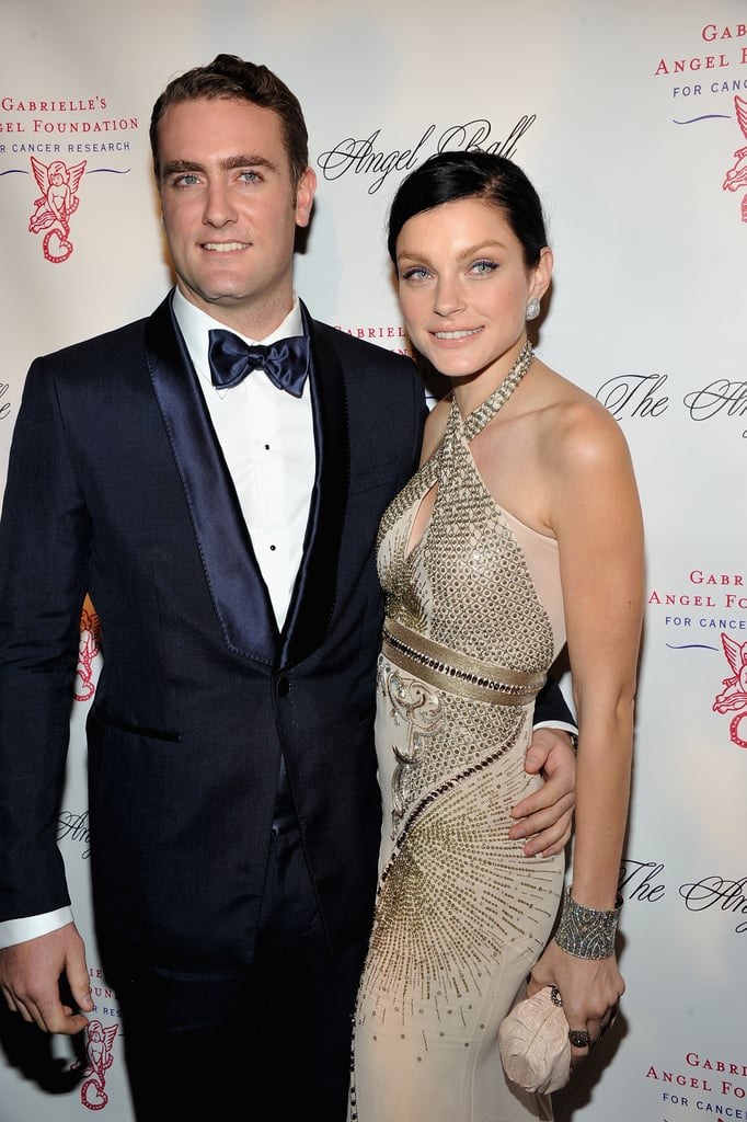 Jessica Stam posed on the red carpet at the Angel Ball in New York City.