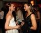 Natalie Portman had a conversation with Rashida Jones at Vanity Fair's Oscar afterparty.