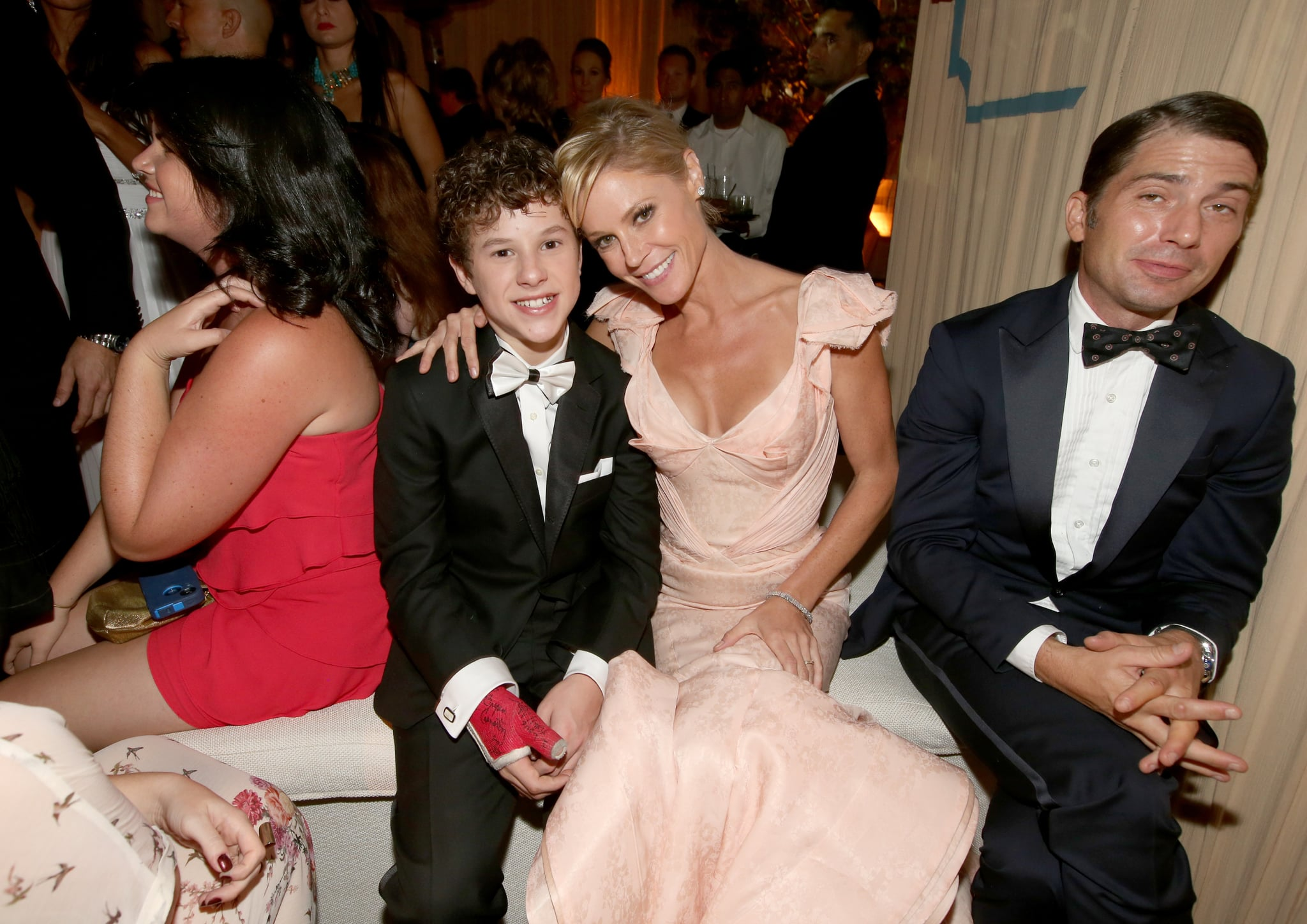 Julie Bowen joined up with Nolan Gould at the Fox afterparty.
