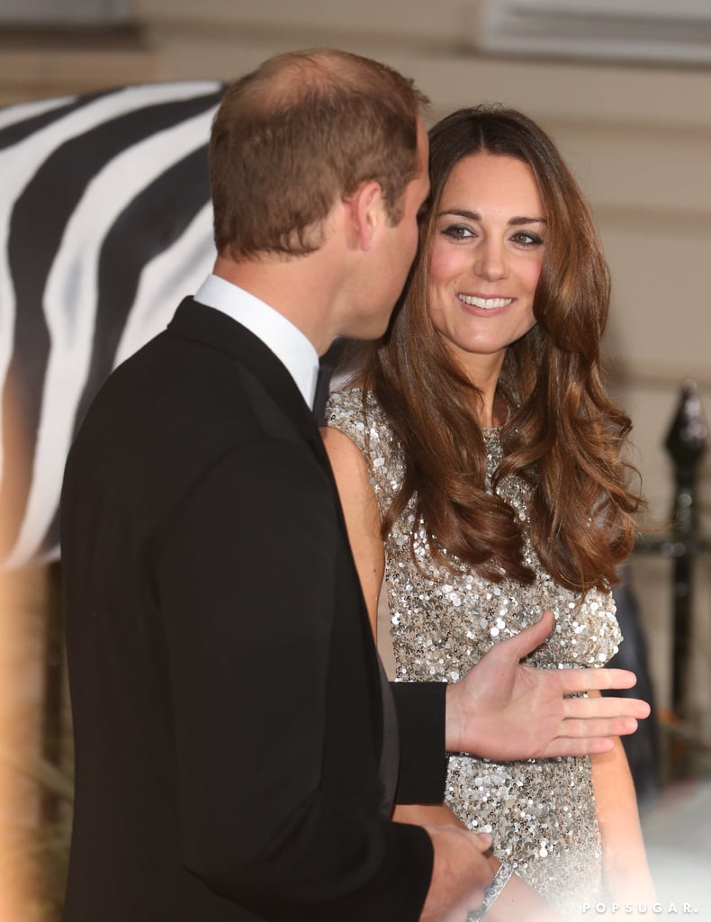 The Duke and Duchess of Cambridge chatted outside the ceremony.