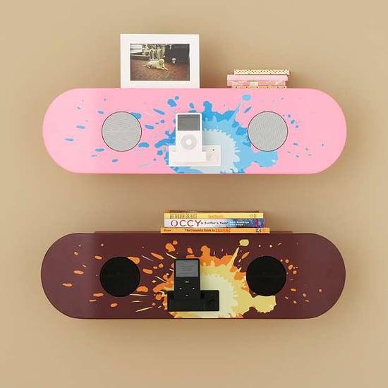 Pottery Barn Skateboard Speaker Shelf