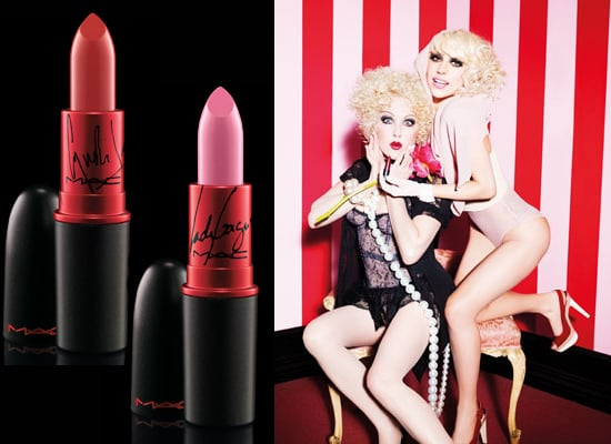 Lady Gaga and Cyndi Lauper MAC Viva Glam Lipsticks