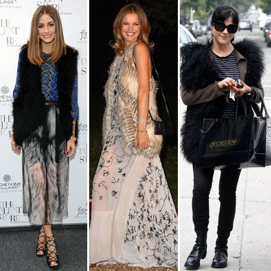 Olivia Palermo, Selma Blair Wearing Fur Vests