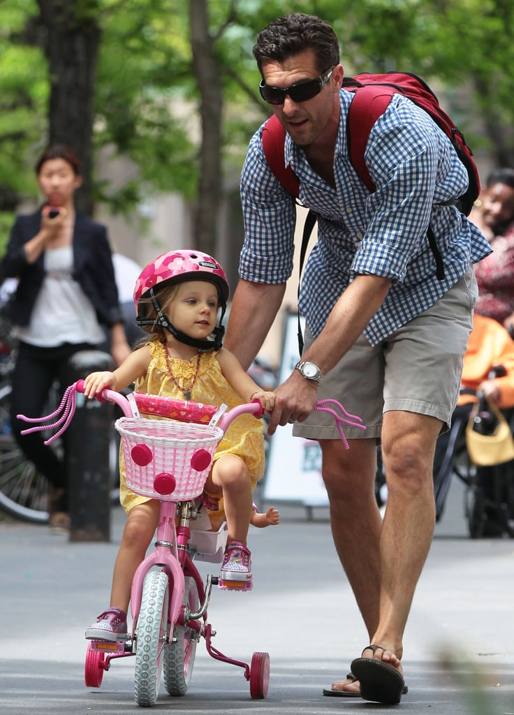 Jason Hoppy took his daughter, Bryn, for an NYC bike ride.