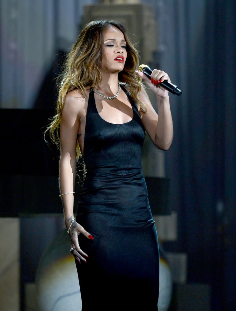 Rihanna took the stage to sing.