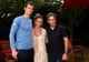 Andy Murray posed for a picture with Ben Stiller and Christine Taylor at the US Open.