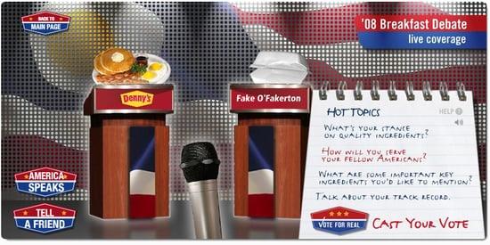 Denny's: Candidate Lookalikes Win Free Breakfast Until 2012