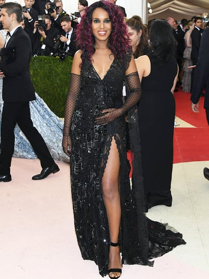 Pregnant Kerry Washington Debuts Baby Bump (and Purple Hair!) at Met Gala