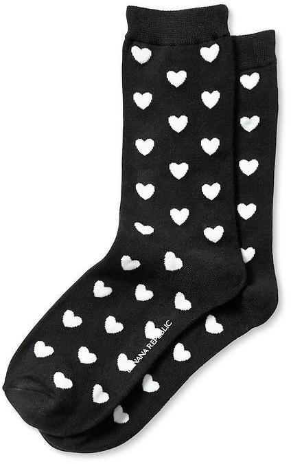 Banana Republic Heart Socks