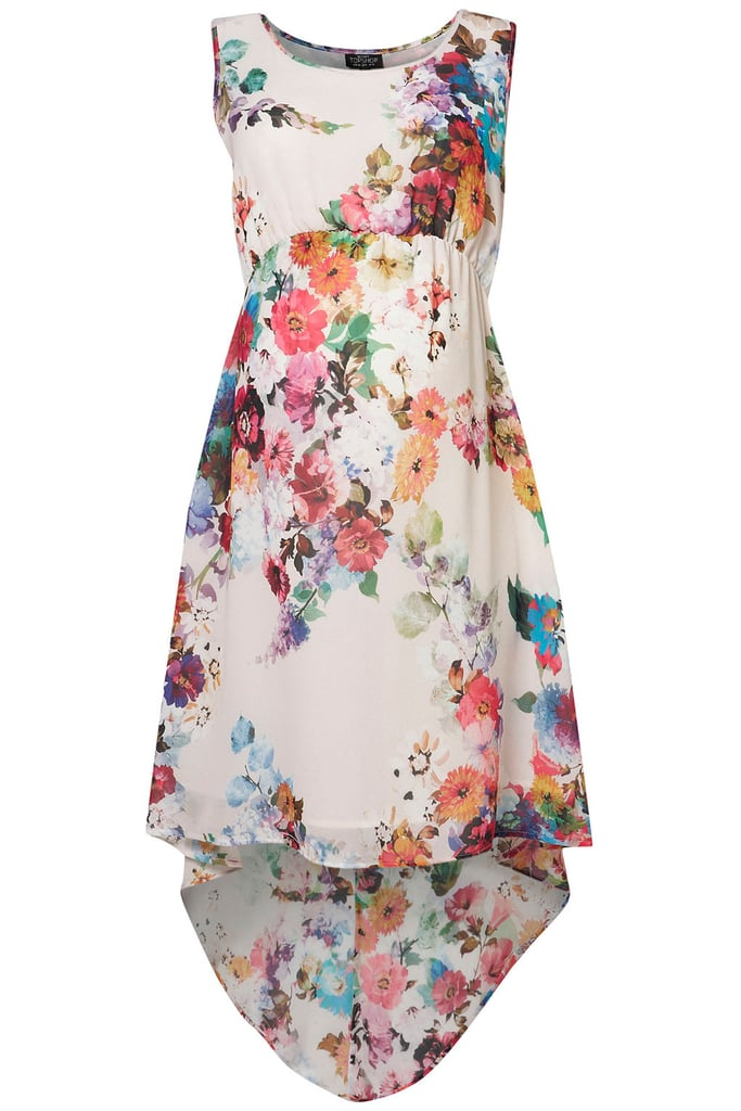 Florals are in for Fall, so sport this Topshop Blossom Dip Hem Dress ($92) with tights and heels to try the trend.