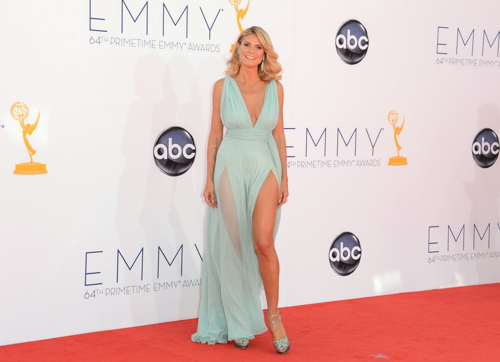 Heidi Klum's Alexandre Vauthier gown had two slits that showed off her legs.