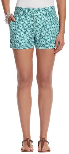 These Loft linen geo-print shorts ($45) will give you a retro feel, especially if you pair them with a tie-front blouse.