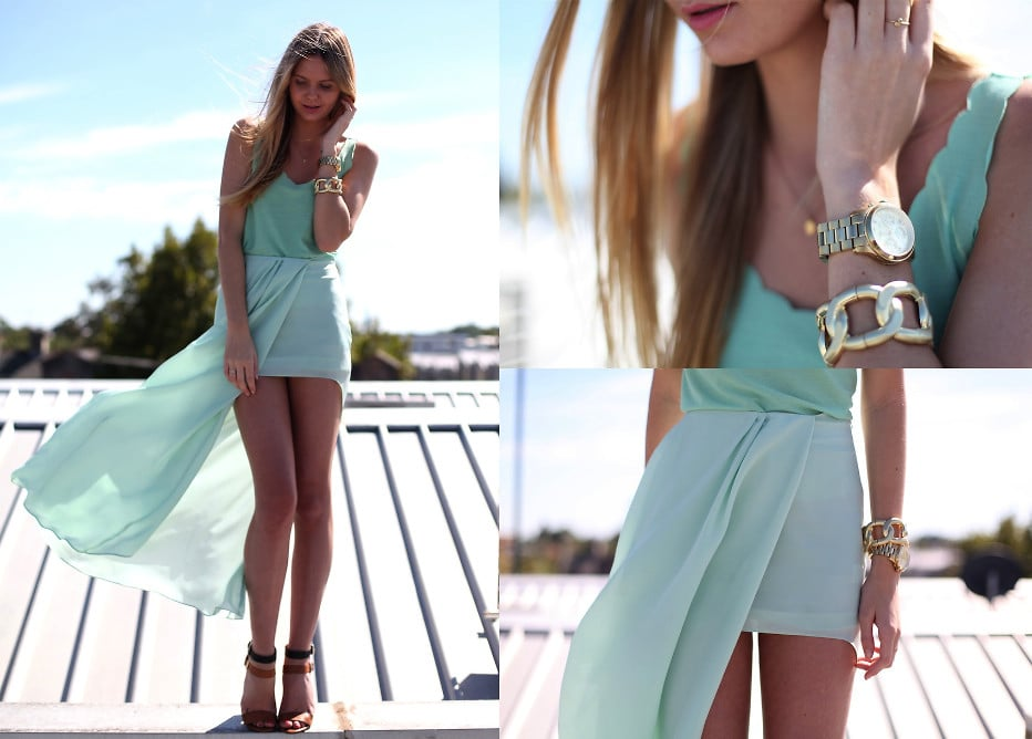 Go for beachy with pretty mint pastels and flirty scalloped edges. Photo courtesy of Lookbook.nu