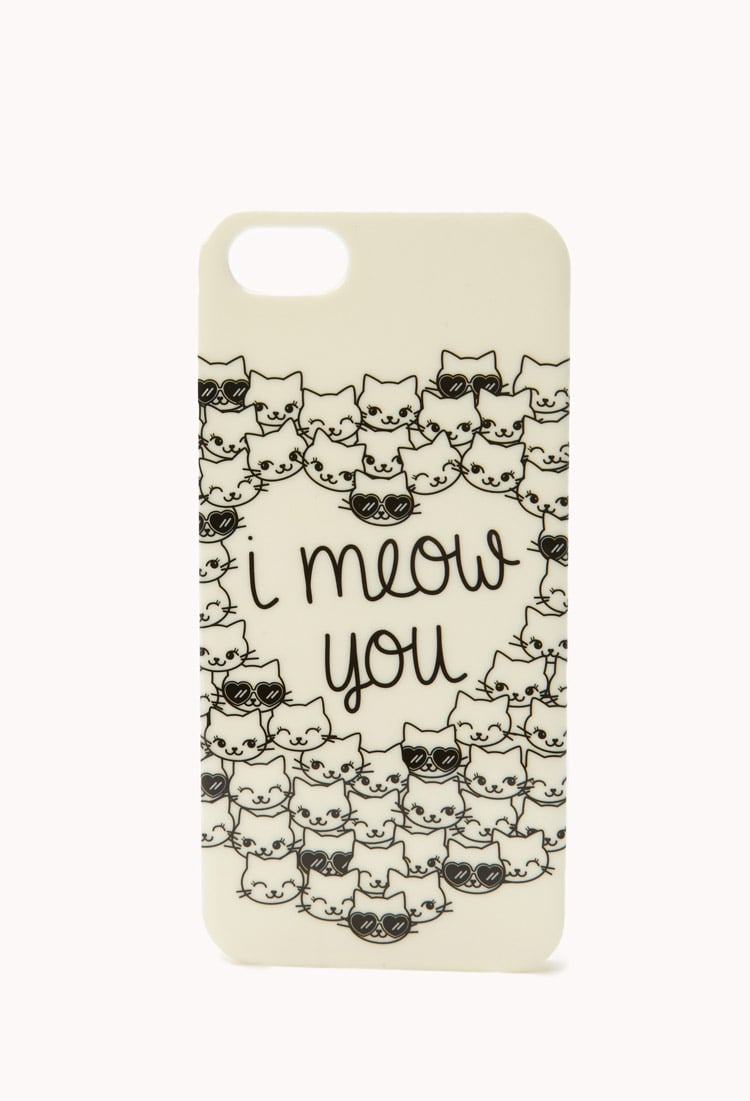 """OK, how adorable is this """"I meow you"""" iPhone 5 case ($5, originally $8)?"""