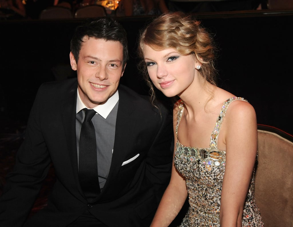 Cory Monteith chatted with Taylor Swift at the Grammys in January 2010.