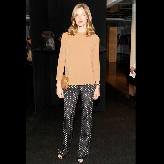 """And just a few days ago . . . Barneys fashion director Amanda Brooks turned heads at The Row Fall 2011 handbag launch wearing a slinky look by Giulietta.   Shop similar styles: <iframe width=""""286"""" scrolling=""""no"""" height=""""244"""" frameborder=""""0"""" src=""""http://widget.shopstyle.com/widget?pid=uid5121-1693761-41&look=3500529&width=3&height=3&layouttype=0&border=0&footer=0""""></iframe>"""
