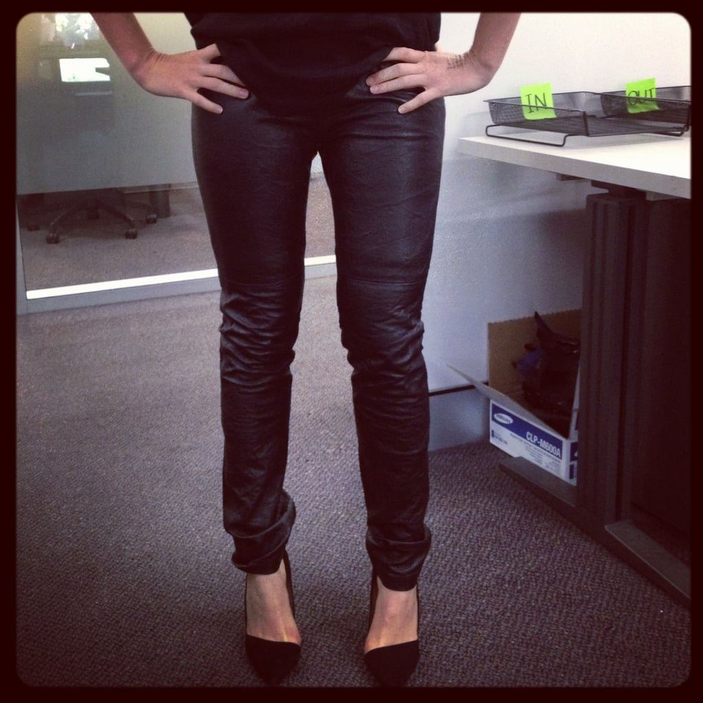 How great are these Sara Berman leather pants Ali scored from The Outnet?