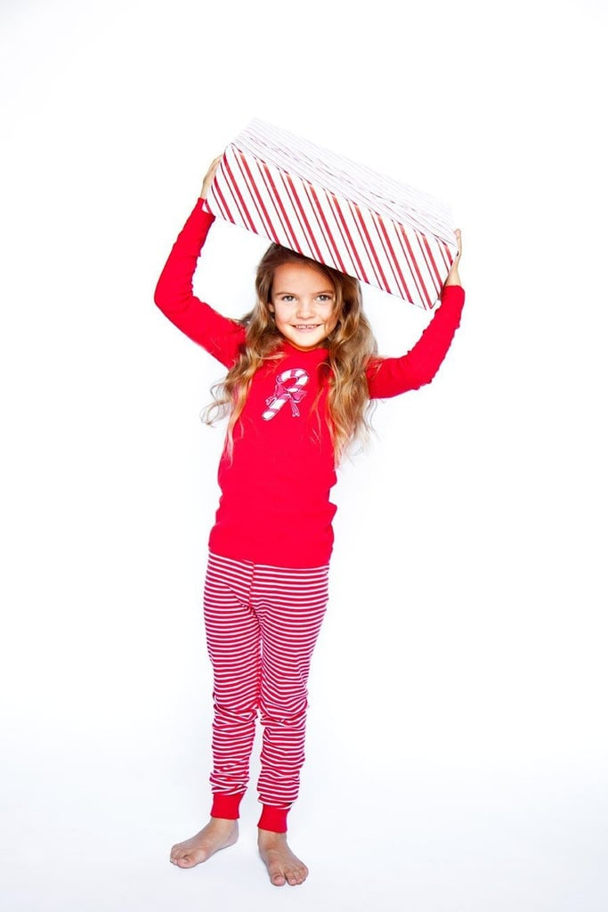Skylar Luna Organic Long Sleeve Candy Cane Pajama Set