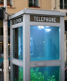 Super Cool Phone Booth Transformation Just For Fishes!