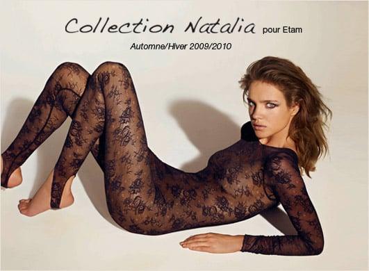 Photos of Natalia Vodianova Lingerie for Etam Autumn 2009