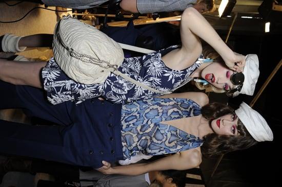 Backstage Photos from Paris Fashion Week Spring 2011: Christian Dior, Haider Ackermann, Jean Paul Gaultier, Lanvin